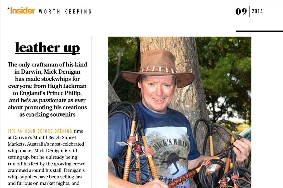 Mick's Whips, Jetstar article