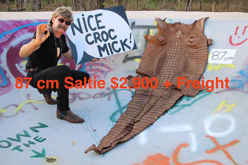 Crocodile Skin for sale, Micks Whips, Darwin NT