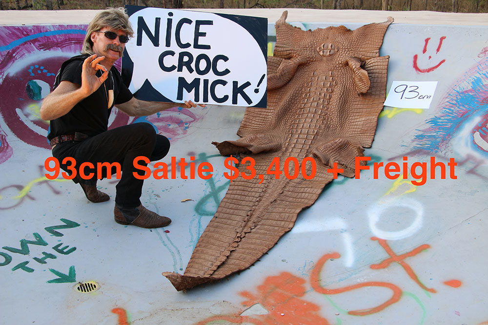 Crocodile Skin for sale, Micks Whips, Darwin NT