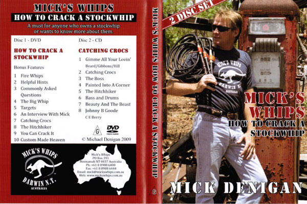 Mick's Whips, How to Crack a Stockwhip DVD