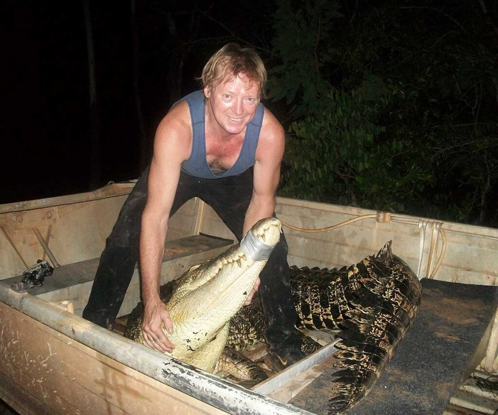 Mick Denigan, licenced crocodile harvester
